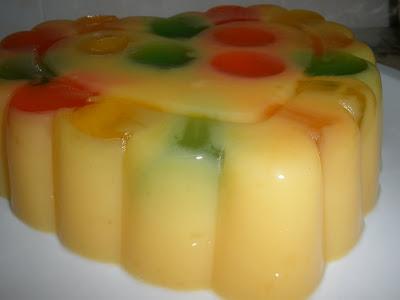 puding kastard jelly resepi
