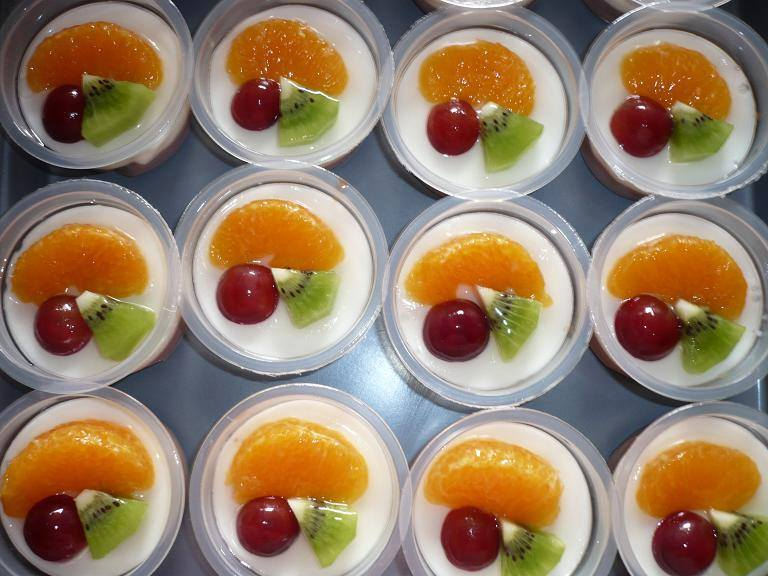 resepi Puding Castard Fruit Cocktail 2
